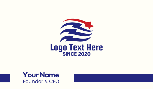 campaign - Patriotic Flag Banner Business card horizontal design