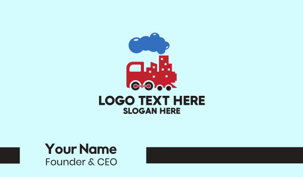 toy train - City Train Transport Business card horizontal design