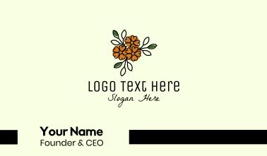 Flower Store Line Art Business Card