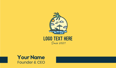 Island Vacation  Business Card