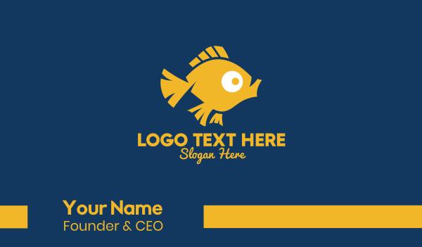 fishing - Pet Goldfish  Business card horizontal design