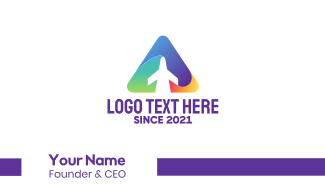 Triangle Jet Business Card