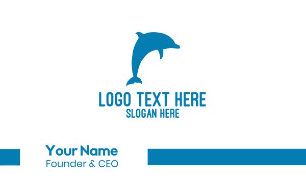 blue dolphin - Blue Dolphin Business card horizontal design