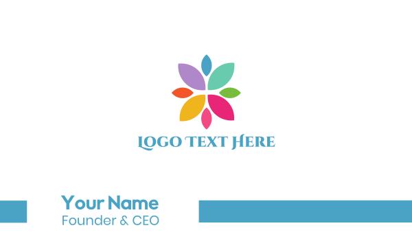 dye - Colorful Petals Business card horizontal design
