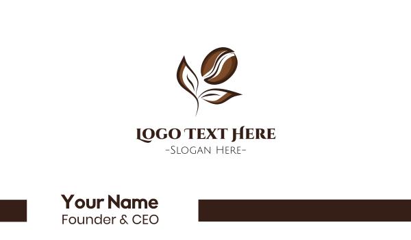 coffee bean - Coffee Flower Business card horizontal design