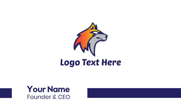 lacrosse - Fox Face Business card horizontal design