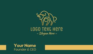 Golden Ox Monoline Business Card