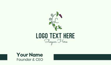 Grapevine Vine Letter Business Card