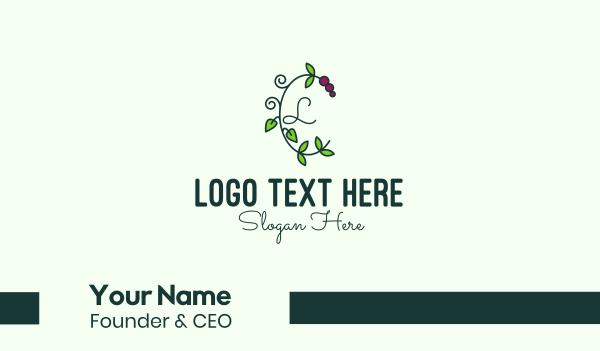 vines - Grapevine Vine Letter Business card horizontal design
