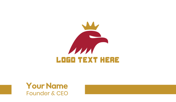 red hawk - Red Eagle King Business card horizontal design
