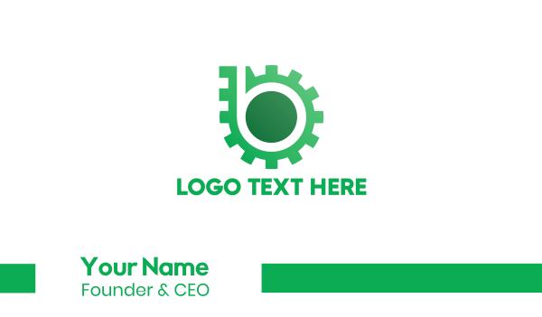 motor - Green Gear Business card horizontal design