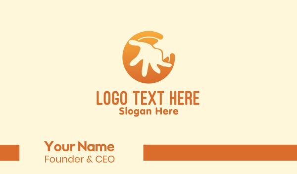 orphanage - Orange Kid Hand  Business card horizontal design