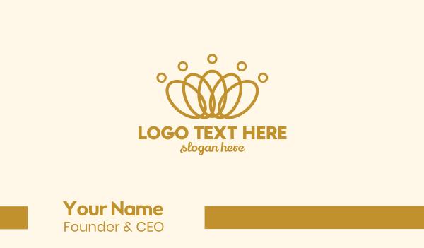 treasure - Elegant Ring Crown Business card horizontal design