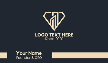 Elegant Diamond Building Business Card