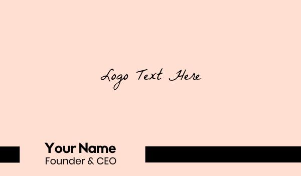 casual - Retro Handwriting Business card horizontal design