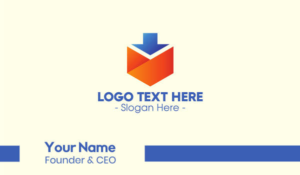 mailman - Mail Download Application Business card horizontal design