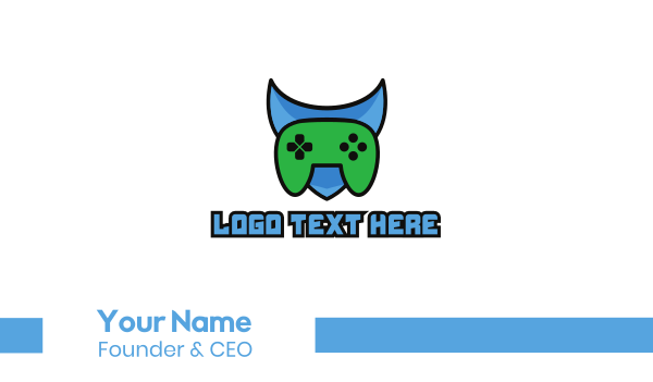 gaming console - Shield Gaming Business card horizontal design