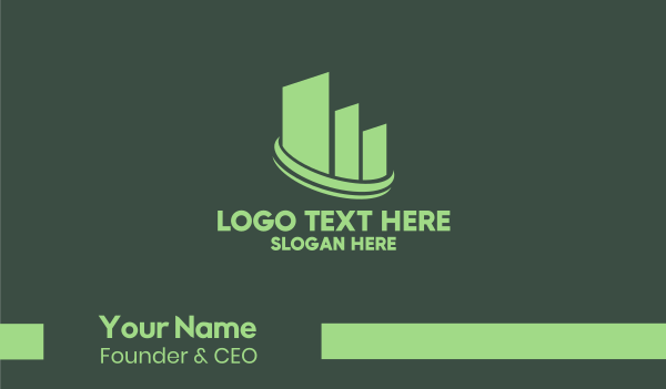 business solutions - Eco Real Estate  Business card horizontal design