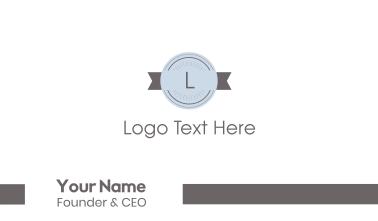 Retro Stamp Lettermark Business Card