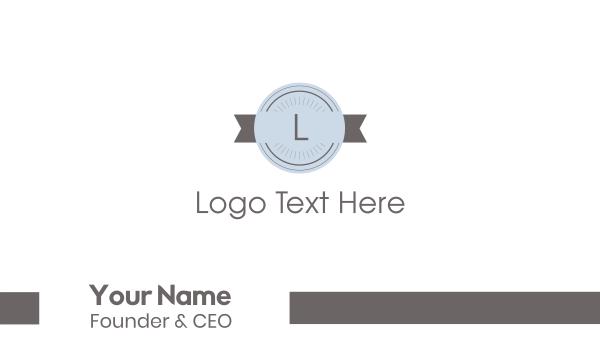 stamp - Retro Stamp Lettermark Business card horizontal design