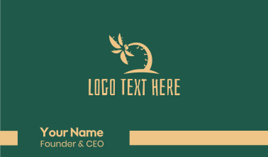 Tropical Coconut Tree Summer Business Card