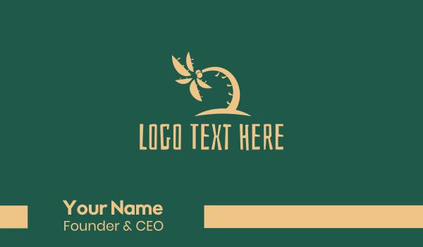 shore - Tropical Coconut Tree Summer Business card horizontal design