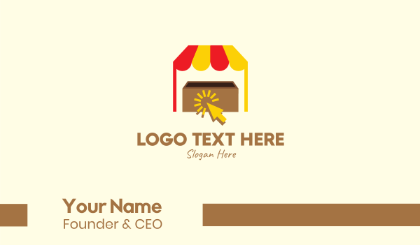 buying - E-commerce Cart Click Stall Business card horizontal design