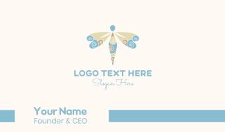 Dragonfly Swirls Business Card