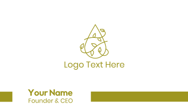 Water Vine Outline Business Card