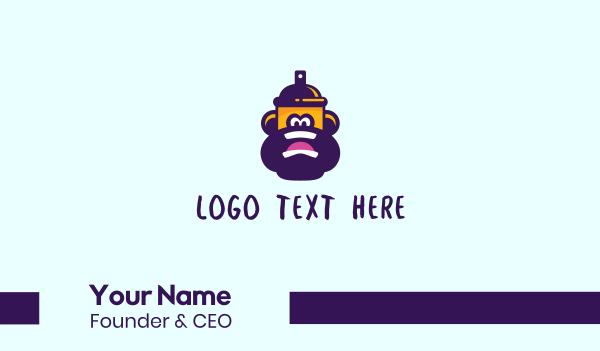 ape - Gorilla Spray Can Business card horizontal design
