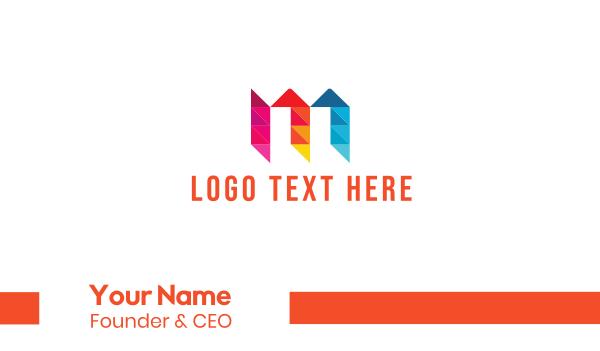montreal - Letter M Diamond Business card horizontal design