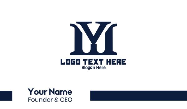 serif - Blue Traditional MY Business card horizontal design