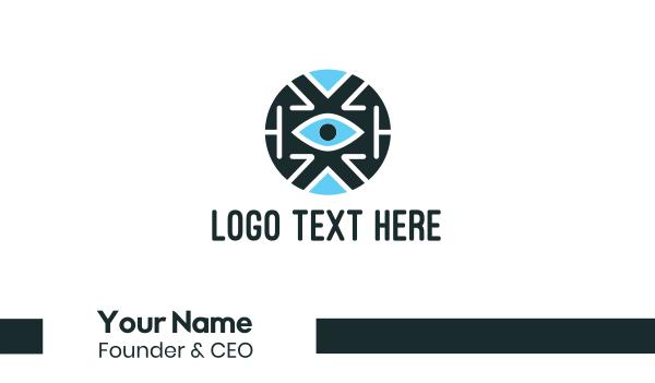 sight - Blue Tech Eye Business card horizontal design