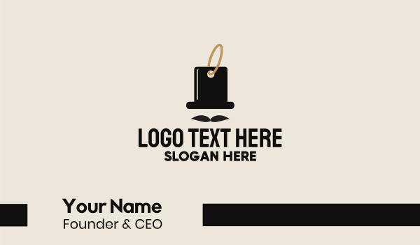 suit - Gentleman Tag  Business card horizontal design