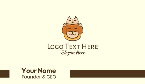 whelp - Adorable Pet Animals Business card horizontal design