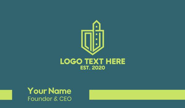 urban - Urban Green Construction  Business card horizontal design