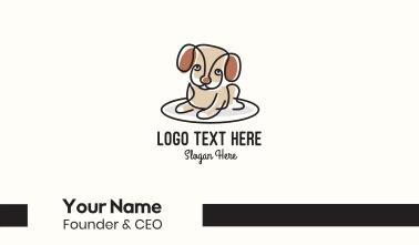 Cute Monoline Puppy Business Card