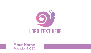 Snail Love Heart Business Card