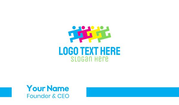 crowd - People Group Organization Business card horizontal design