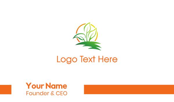 therapist - Sun Leaf Business card horizontal design