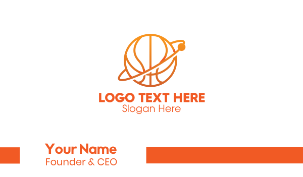 court - Basketball Planet Business card horizontal design