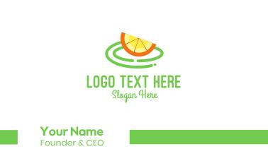 Fresh Orange Slice Business Card