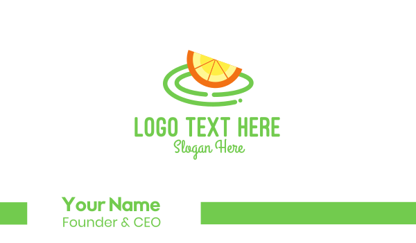 lemon - Fresh Orange Slice Business card horizontal design