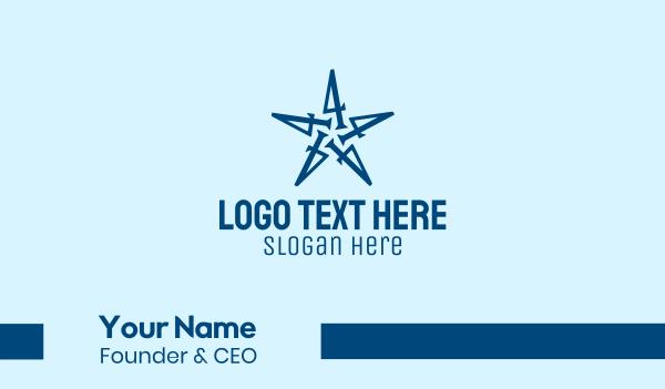 four - Number 4 Star Company  Business card horizontal design