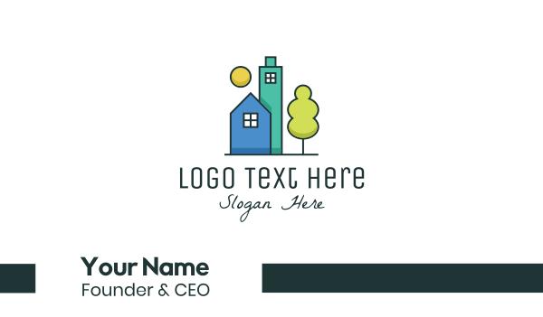 agent - Simple Modern Real Estate  Business card horizontal design