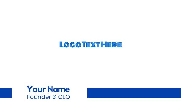 magazine - Modern Outline Wordmark Business card horizontal design