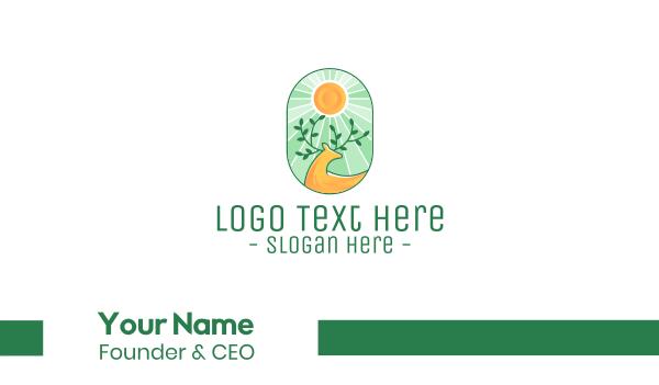antler - Eco-Friendly Deer Business card horizontal design
