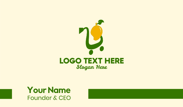 online store - Mango Shopping Cart Business card horizontal design