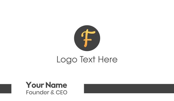 curvy - Orange Curvy F Business card horizontal design