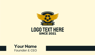Soccer Club Wings Business Card